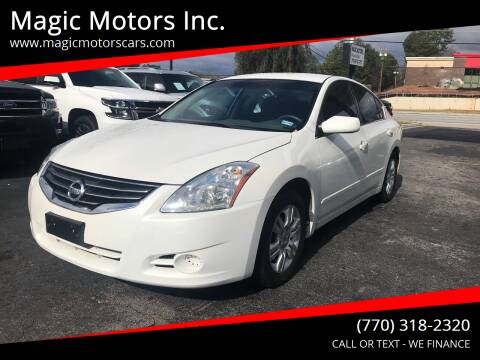 2012 Nissan Altima for sale at Magic Motors Inc. in Snellville GA