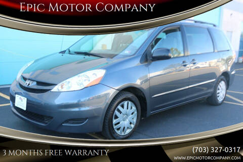 2007 Toyota Sienna for sale at Epic Motor Company in Chantilly VA