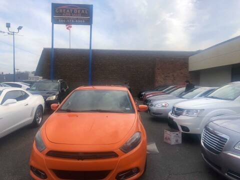 2013 Dodge Dart for sale at GREAT DEAL AUTO SALES in Center Line MI