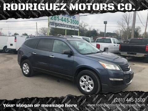 2013 Chevrolet Traverse for sale at RODRIGUEZ MOTORS CO. in Houston TX