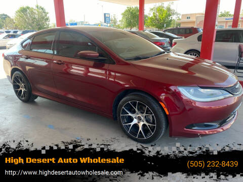 2015 Chrysler 200 for sale at High Desert Auto Wholesale in Albuquerque NM