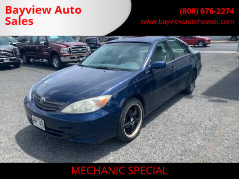 2002 Toyota Camry for sale at Bayview Auto Sales in Waipahu HI
