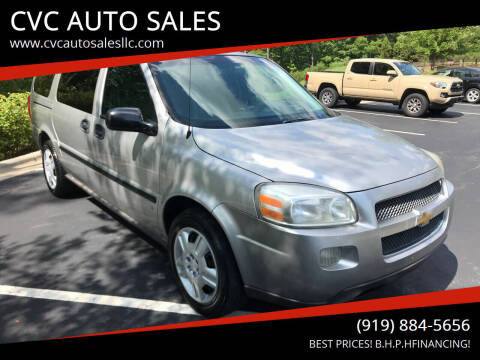 2007 Chevrolet Uplander for sale at CVC AUTO SALES in Durham NC
