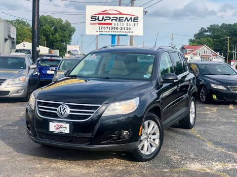 2009 Volkswagen Tiguan for sale at Supreme Auto Sales in Chesapeake VA