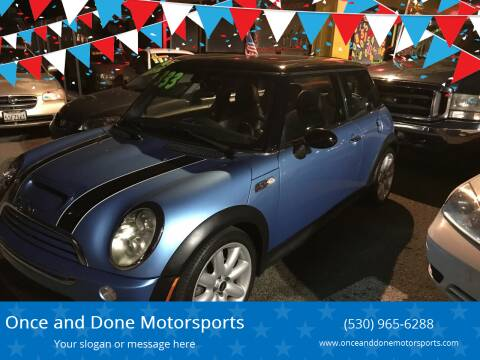 2005 MINI Cooper for sale at Once and Done Motorsports in Chico CA