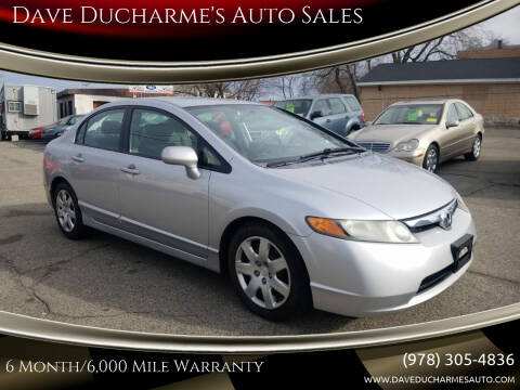2008 Honda Civic for sale at Dave Ducharme's Auto Sales in Lowell MA