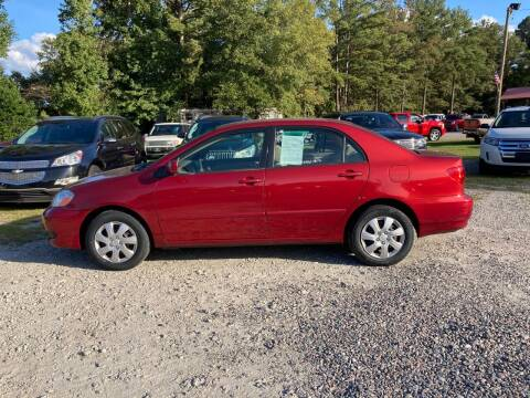 2006 Toyota Corolla for sale at Joye & Company INC, in Augusta GA