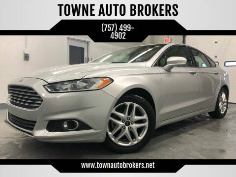 2013 Ford Fusion for sale at TOWNE AUTO BROKERS in Virginia Beach VA