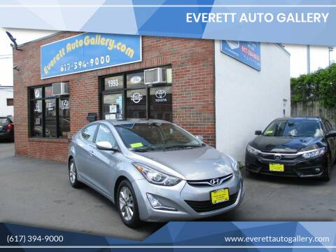 2015 Hyundai Elantra for sale at Everett Auto Gallery in Everett MA