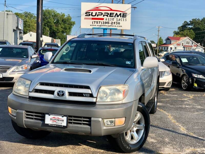 2003 Toyota 4Runner for sale at Supreme Auto Sales in Chesapeake VA