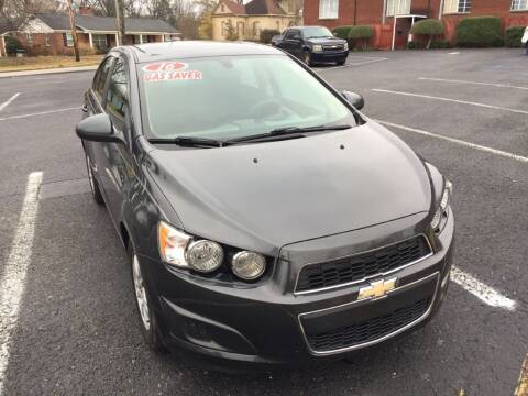 2016 Chevrolet Sonic for sale at DEALS ON WHEELS in Moulton AL