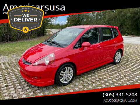 2008 Honda Fit for sale at Americarsusa in Hollywood FL
