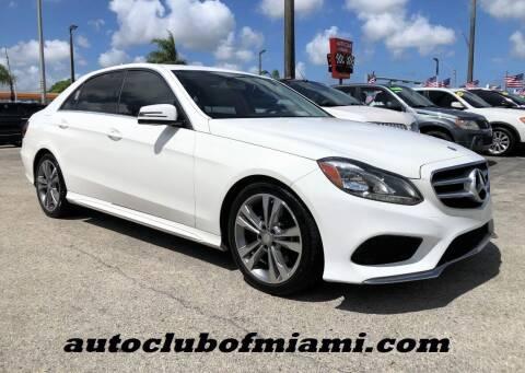 2014 Mercedes-Benz E-Class for sale at AUTO CLUB OF MIAMI in Miami FL
