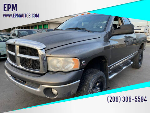 2004 Dodge Ram Pickup 3500 for sale at EPM in Auburn WA