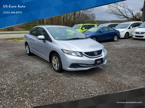 2013 Honda Civic for sale at US-Euro Auto in Burton OH