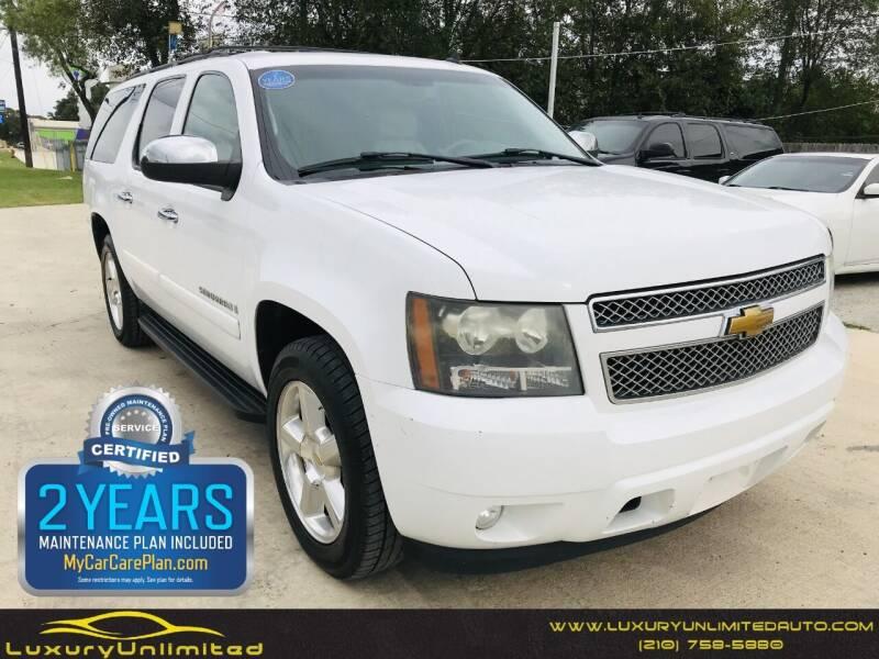 2007 Chevrolet Suburban for sale at LUXURY UNLIMITED AUTO SALES in San Antonio TX