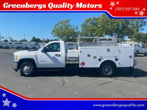 2013 Chevrolet Silverado 3500HD CC for sale at Greenbergs Quality Motors in Napa CA