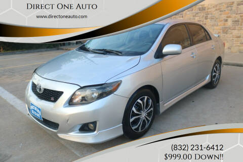 2009 Toyota Corolla for sale at Direct One Auto in Houston TX