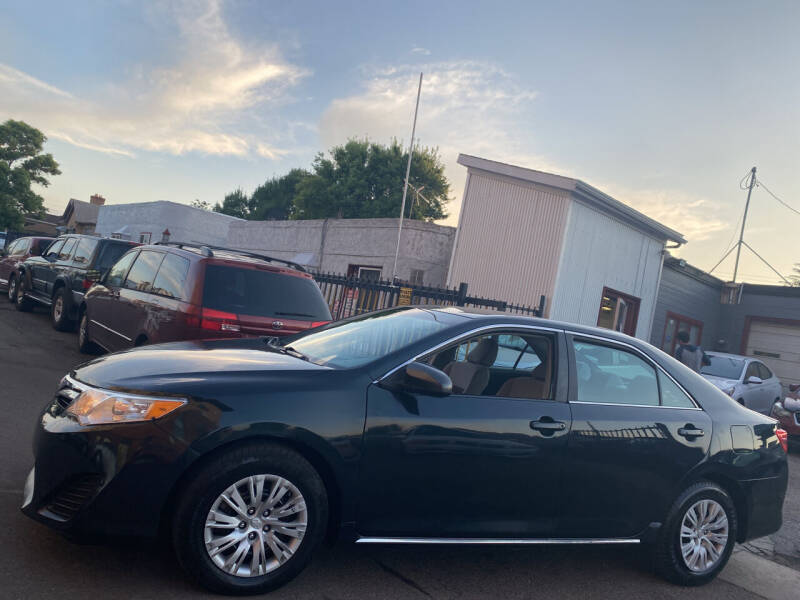 2013 Toyota Camry for sale at Sanaa Auto Sales LLC in Denver CO
