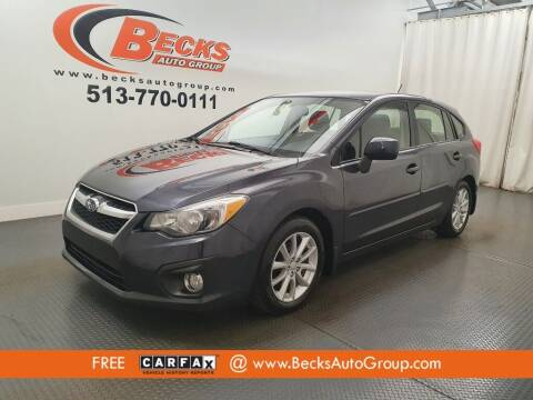 2013 Subaru Impreza for sale at Becks Auto Group in Mason OH