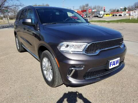 2021 Dodge Durango for sale at Faw Motor Co in Cambridge NE
