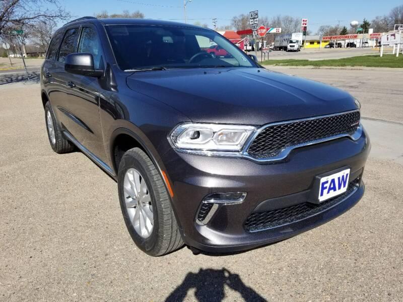 2021 Dodge Durango for sale at Faw Motor Co in Cambridge NE