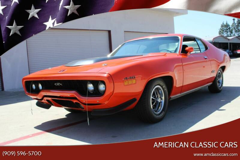 1971 Plymouth GTX for sale at American Classic Cars in La Verne CA