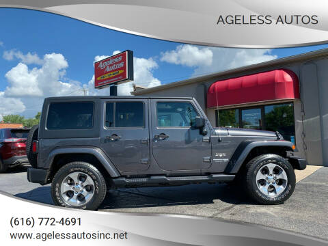 2018 Jeep Wrangler JK Unlimited for sale at Ageless Autos in Zeeland MI