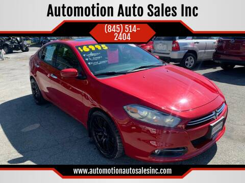 2013 Dodge Dart for sale at Automotion Auto Sales Inc in Kingston NY