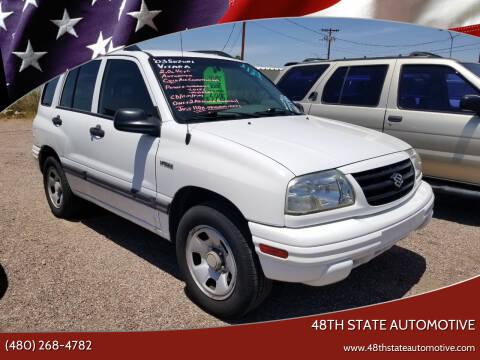 2003 Suzuki Vitara for sale at 48TH STATE AUTOMOTIVE in Mesa AZ