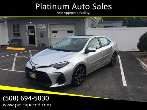 2017 Toyota Corolla for sale at Platinum Auto Sales in South Yarmouth MA
