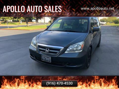 2006 Honda Odyssey for sale at APOLLO AUTO SALES in Sacramento CA