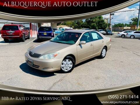 2004 Toyota Camry for sale at ALBUQUERQUE AUTO OUTLET in Albuquerque NM