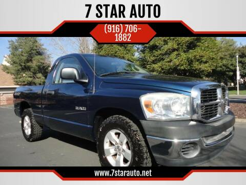 2008 Dodge Ram Pickup 1500 for sale at 7 STAR AUTO in Sacramento CA
