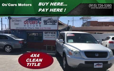 2004 Honda Pilot for sale at Os'Cars Motors in El Paso TX