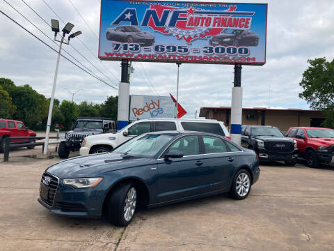 2013 Audi A6 for sale at ANF AUTO FINANCE in Houston TX