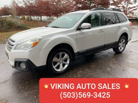 2013 Subaru Outback for sale at VIking Auto Sales LLC in Salem OR