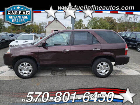 2002 Acura MDX for sale at FUELIN FINE AUTO SALES INC in Saylorsburg PA