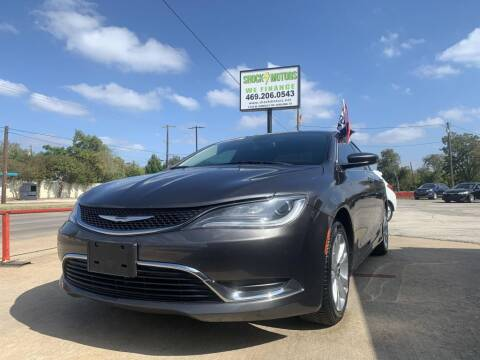 2015 Chrysler 200 for sale at Shock Motors in Garland TX
