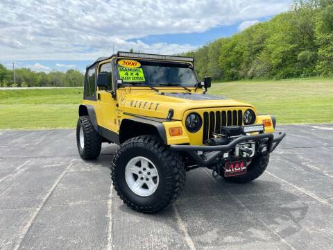 2000 Jeep Wrangler for sale at A & S Auto and Truck Sales in Platte City MO