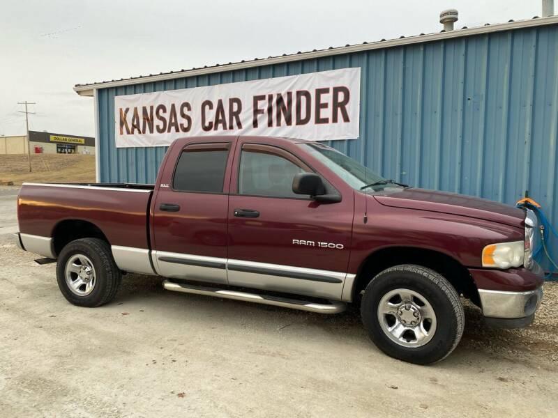 2002 Dodge Ram Pickup 1500 for sale at Kansas Car Finder in Valley Falls KS