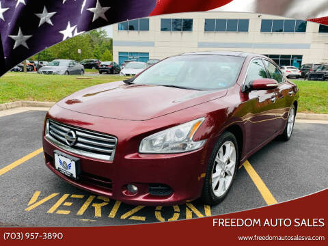 2013 Nissan Maxima for sale at Freedom Auto Sales in Chantilly VA