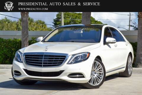 2016 Mercedes-Benz S-Class for sale at Presidential Auto  Sales & Service in Delray Beach FL