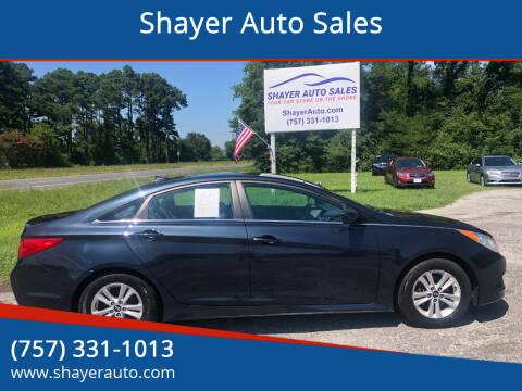 2014 Hyundai Sonata for sale at Shayer Auto Sales in Cape Charles VA