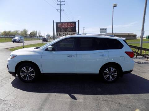 2017 Nissan Pathfinder for sale at MYLENBUSCH AUTO SOURCE in O` Fallon MO