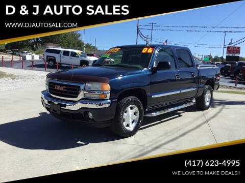 2006 GMC Sierra 1500 for sale at D & J AUTO SALES in Joplin MO