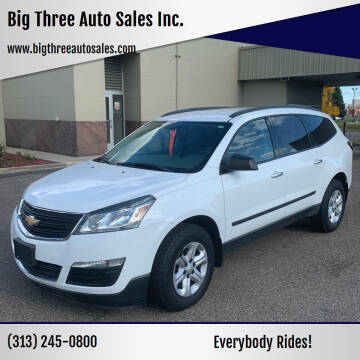 2016 Chevrolet Traverse for sale at Big Three Auto Sales Inc. in Detroit MI
