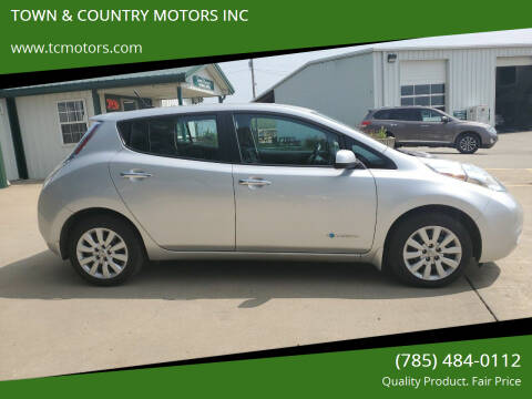 2014 Nissan LEAF for sale at TOWN & COUNTRY MOTORS INC in Meriden KS