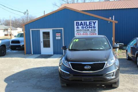 2014 Kia Sportage for sale at Bailey & Sons Motor Co in Lyndon KS