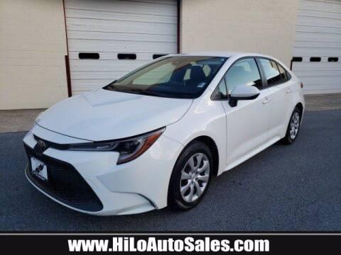 2020 Toyota Corolla for sale at Hi-Lo Auto Sales in Frederick MD